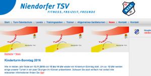 Webseite NTSV Leistungsturnen